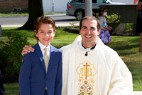 Communicants with Father James-photos